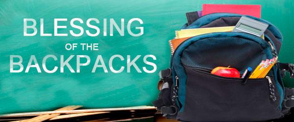 Blessing Of The Backpacks Sept 9 Christ Episcopal Church